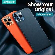 Joyroom – coque de protection en cuir véritable pour iPhone, compatible modèles 11 pro Max, 11 Pro, luxueuse, résistante aux chocs
