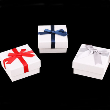 Floral Necklace Earrings Ring Box 7.3x7.3x4cm Square Jewelry Box Paper Jewelry Gift Boxes Jewellery Organizer Boxes For Jewelry