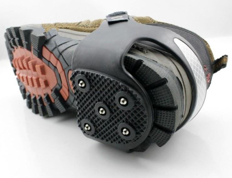 Image 3 - 1 Pair 5 Teeth Heel Claw Winter Crampons Spike Ice Shoe Grip Spike Anti Slip Climbing Irons Crampons Ice Snow Shoe Point Grip-in Ice Gripper from Shoes