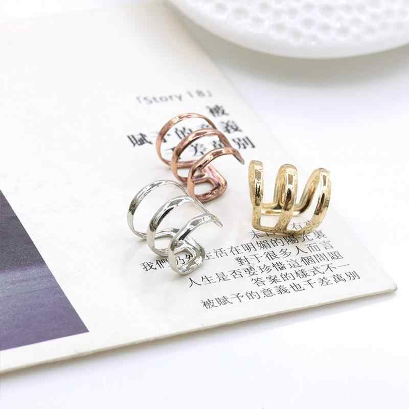 1pc Ear Clip Rose Gold Silver European And American Personality Jewelry Trend Adjustable Joint Ring Ear Women Girls Bone Clip
