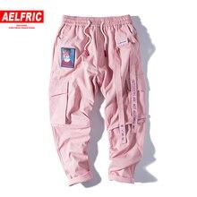Aelfric/спортивные штаны в стиле хип-хоп с вышивкой; брюки в японском стиле; спортивные брюки; уличная одежда; Спортивные Повседневные брюки-карго для мужчин и женщин