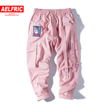 Aelfric الهيب هوب عرق السراويل التطريز النمط الياباني بنطلون Sweatpants الشارع الشهير الركض المسار السراويل البضائع غير رسمية النساء الرجال