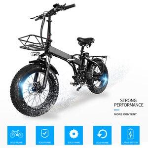 Электрический велосипед 48V15A 20*4,0 дюймов, алюминиевый складной электрический велосипед 750 Вт, мощный горный велосипед, снежный/пляжный велос...