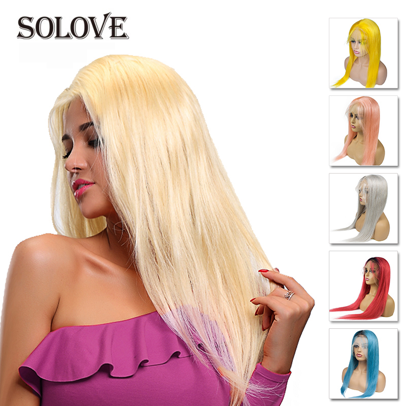 Brazilian Remy Straight Hair  Ombre Full Lace Wig Color Full Lace Human Hair Wigs With Baby Hair 14