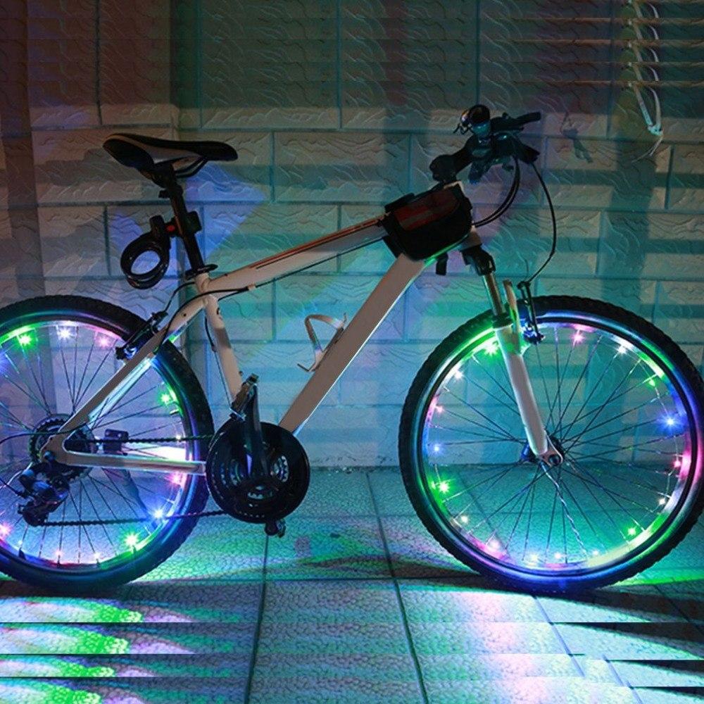 20 LED Bike String Light Waterproof Bicycle Cycling Rim Lights LED Wheel Spoke Light 2.2m Night String Strip Lamp