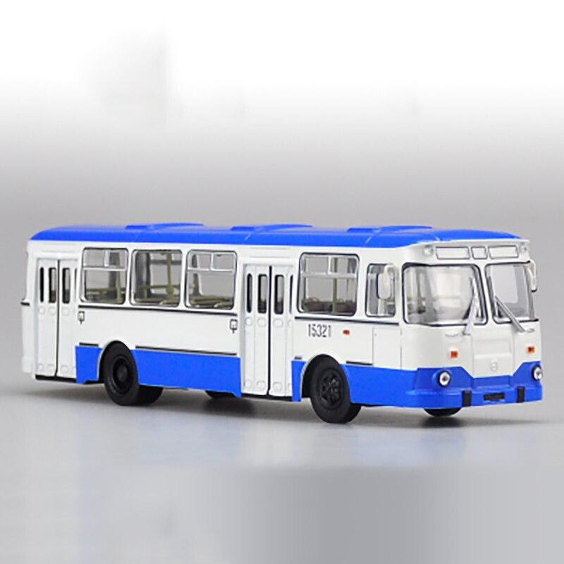 1/43 échelle Bus russe en alliage de métal Tram Bus modèle moulé sous pression voiture enfant modèle jouet enfants véhicule trafic outils Collection de cadeaux - 4