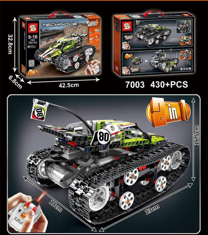 Technic Series The Rc Track Remote control Race Car Set Compatible With 42065 Kids Building Blocks Bricks Christmas Gift in Blocks from Toys Hobbies