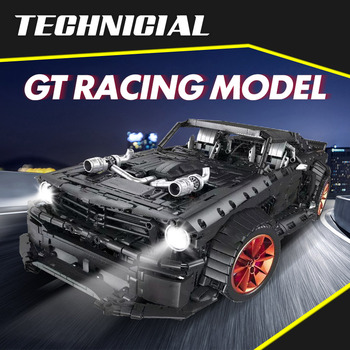 3168pcs RC/non-RC Endurance sports car building block Technic Racing Car led light MOC model bricks toys for boys 1