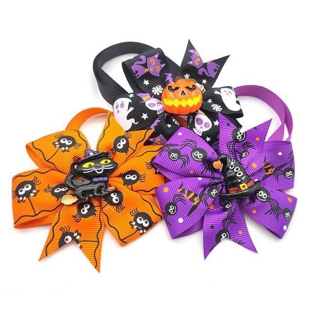 Фото 50/100 шт аксессуары для собак на хэллоуин тыква череп искусственные цена