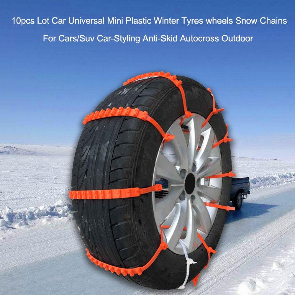 Otomobiller ve Motosikletler'ten Lastik Aksesuarları'de 2 20 adet/grup araba evrensel Mini plastik kış lastikleri jantlar kar zincirleri otomobil/Suv araba styling anti hız kaymaz Autocross açık title=