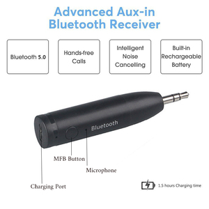 Image 4 - Bluetooth 5.0 Car Kit Mini 3.5mm Jack AUX Handsfree Stereo Music Audio Receiver Adapter for Car Headphone Speaker #2