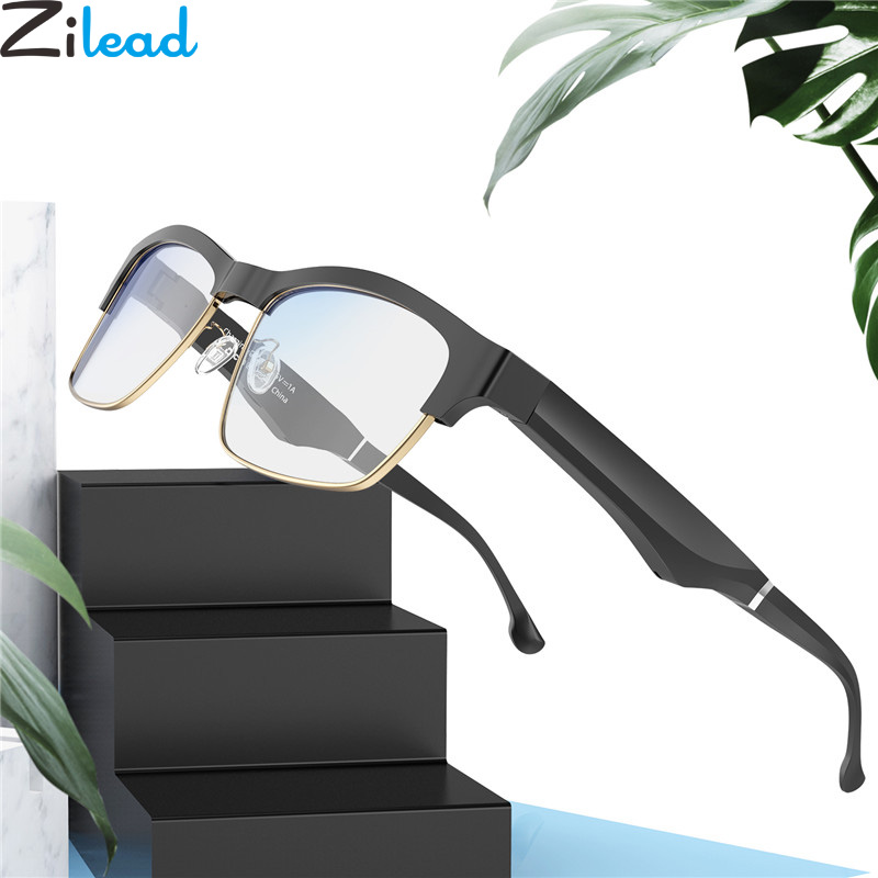 Zilead Bluetooth Smart Glasses Frame Anti Blue Light Optical Sepectacles Business Men Wireless Stereo Music Eyeglasses Eyewear