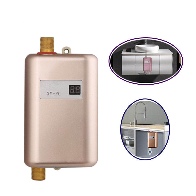 3800W Continuous Water Heater Wall Mounted Electric Water Heating Thermostat Fast Heat Durchlauferhitzer Dusche 220V EU Plug
