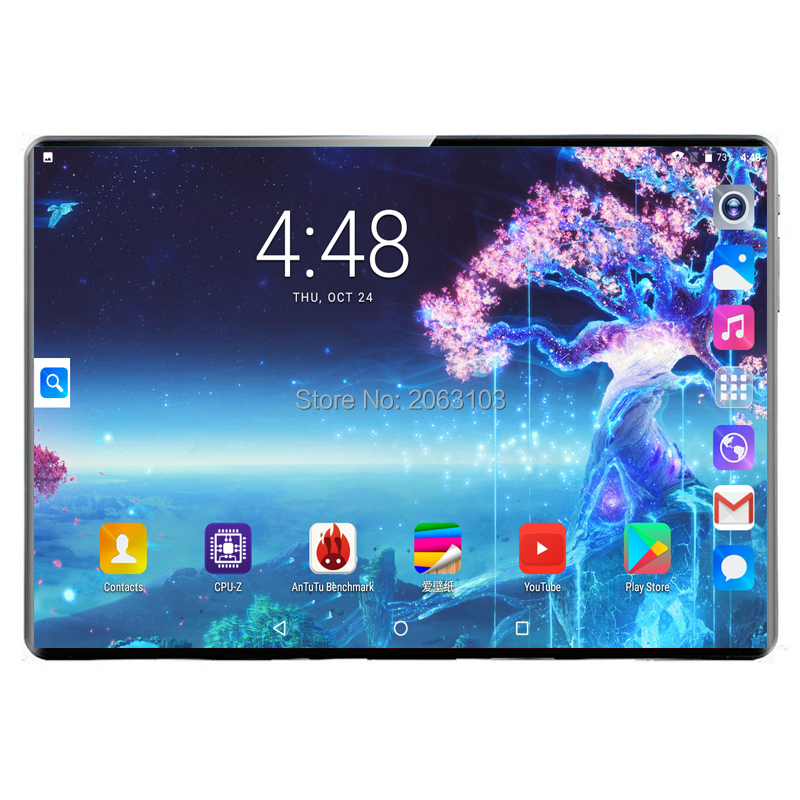 2020 Super Tablet 128G Global Bluetooth Wifi Android 9.0 10 Inch Tablet Deca Core 8GB RAM 128GB ROM 2.5D Screen Tablets 4G LTE