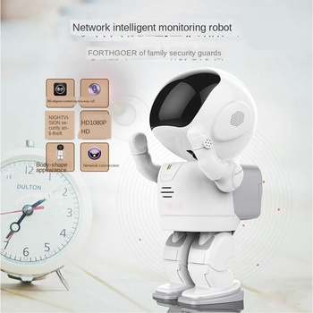 Smart space robot wifi HD security camera mobile phone remote baby care monitor wireless security camera wifi wireless network hd head cloud monitoring smart camera phone remote broadcast