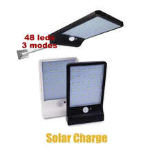 Solar Lights Outdoor 48 LED Super Bright Lamp 450LM Motion Sensor Security Wireless Waterproof Flexible Wall