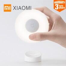 Xiaomi mijia quente luz da noite led mini sensor de movimento infravermelho lâmpada crianças corredor banheiro indução parede luz interior luminária