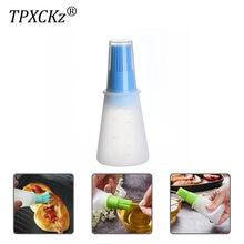 Бутылка для масла tpxckz с щеткой портативная силиконовая бутылка