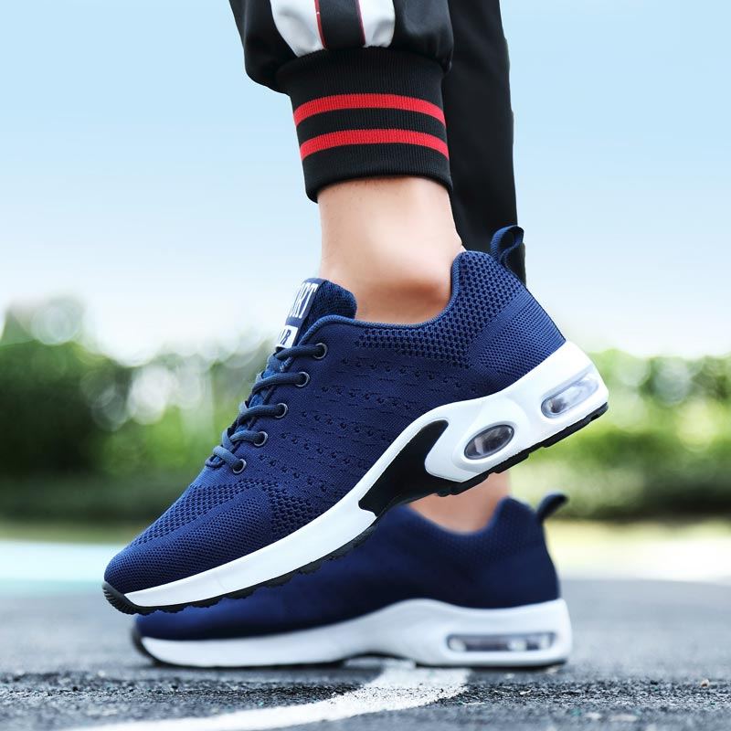 Summer Air Sole Sport Shoes Male Sneakers Men Tennis Shoes Sports Male Running Shoes Mens Runners Blue Training Footwear E-290