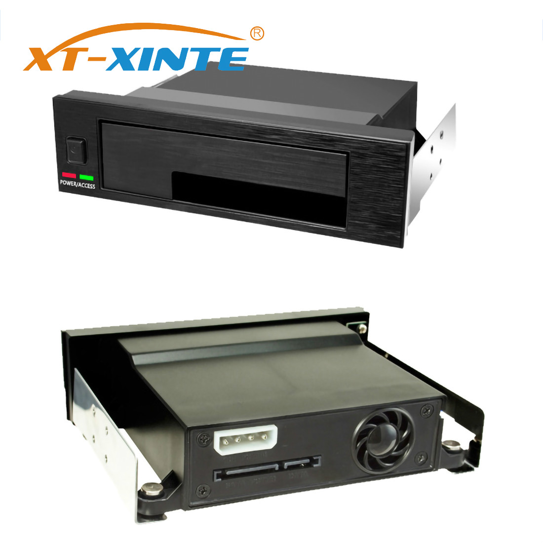 XT-XINTE SSD Storage Box Internal Single Bay Tray-Less Mobile Rack Enclosure LED Indicator Hot-swap For 2.5 3.5 Inch SATA