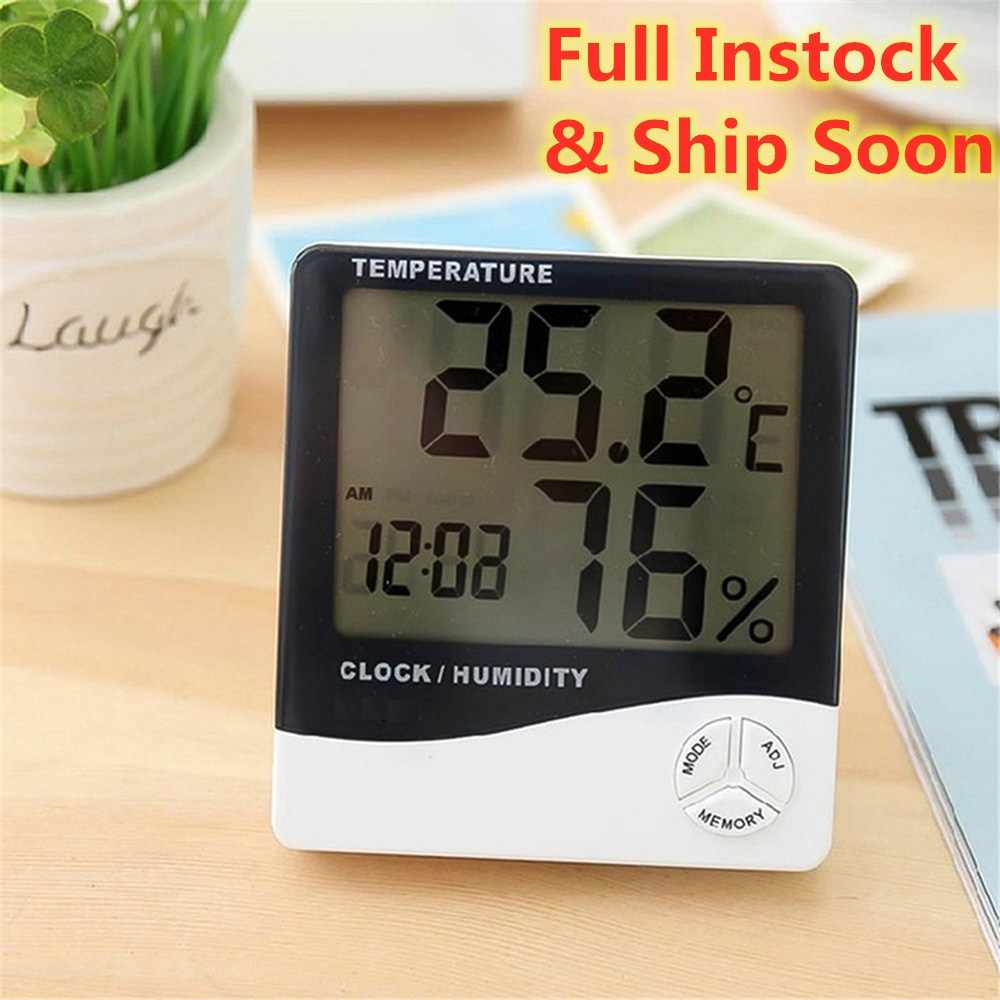 JUNEJOUR Indoor Outdoor Digital Thermometer Hygrometer with LCD Display Temperature Humidity Meter