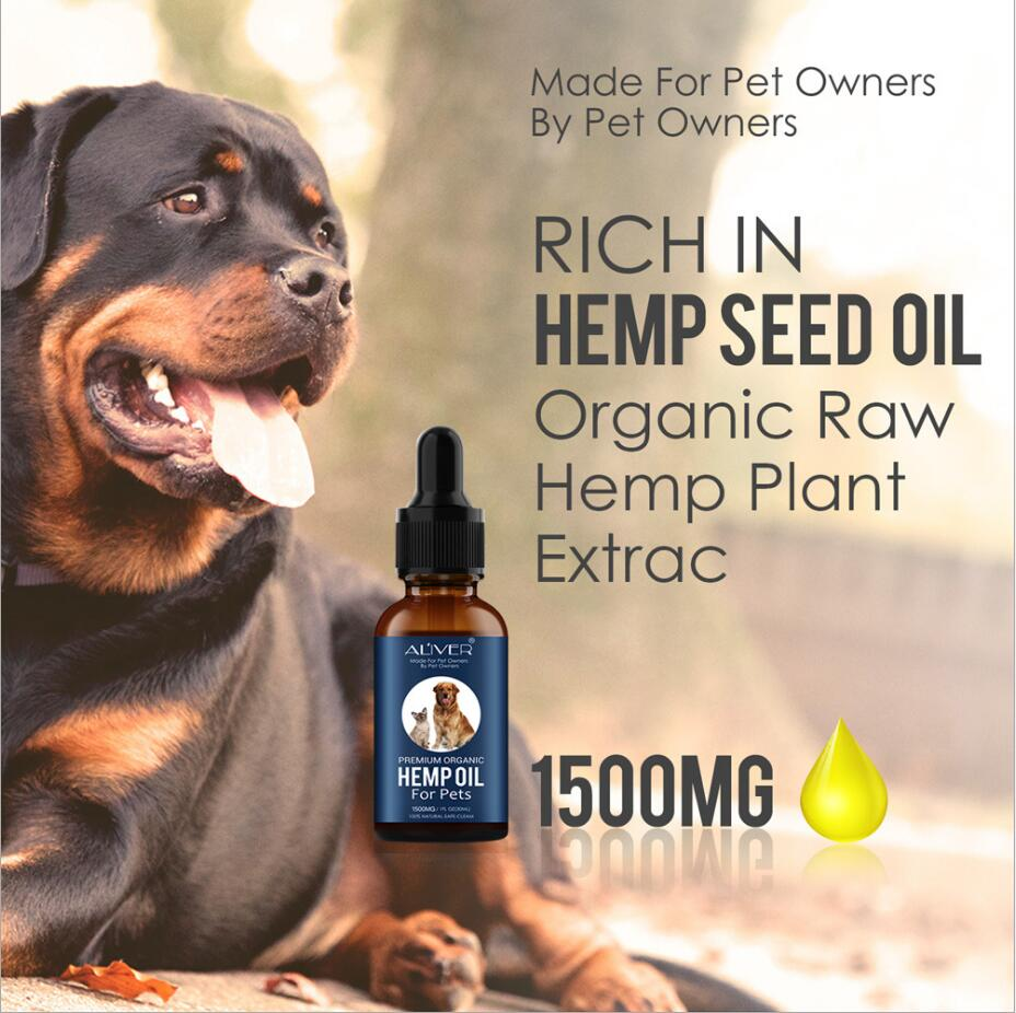 30ML Hemp Essential Oil for Dogs Natural Herbs of Pet Care Oil Anxiety Relief Pain Joint hip Strengtheens immunity image