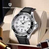 PAGANI DESIGN-reloj mecánico automático para hombre, con movimiento NH35A, caja de acero inoxidable, cristal de zafiro, calendario resistente al agua, nuevo
