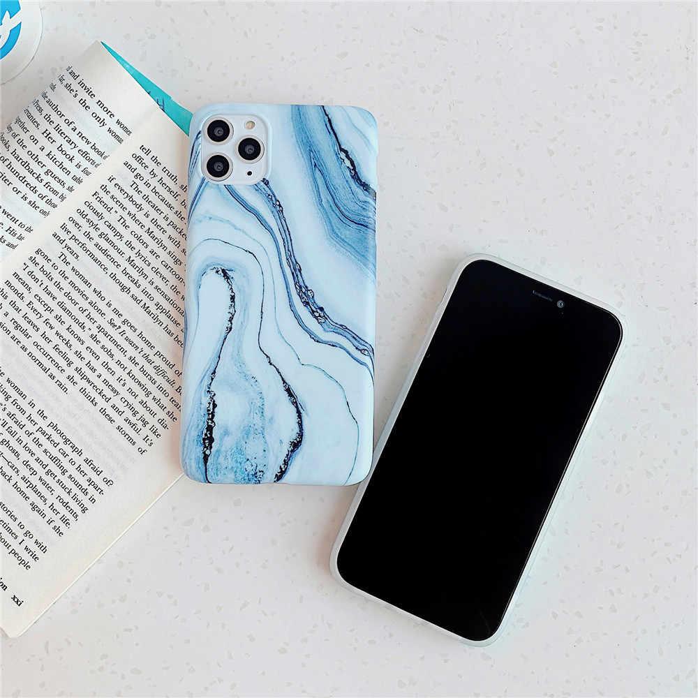 Funda de mármol FLYKYLIN para iPhone 11 Pro Max SE 2, funda trasera para Huawei P20 Mate 30 P30 Lite P40 Pro, carcasa de silicona IMD Skin para teléfono