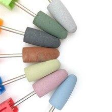 Nail File Art Tool  7 Colors Ceramic Drill Bit Milling Cutter For Electric Manicure Machine Accessory