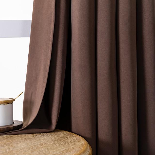 Modern Plain Curtains for Living Room 3