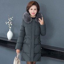 Winter Jacket Women 2019 Trends Long Coat Down Cotton Female Fur Hooded Parkas Snow Basic Clothing Mother's Christmas Gift