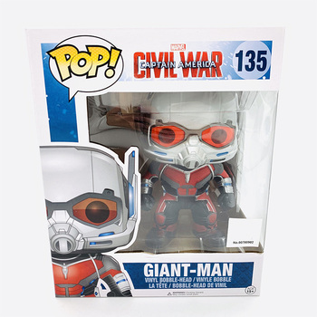 "Funko Pop 6"" MARVEL CIVIL WAR CAPTAIN AMERICA GIANT MAN #135 Vinyl Action Figure Dolls Toys 1"