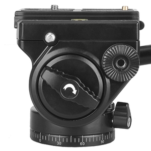 Image 5 - Camera Tripod Head 18Kg Load Fluid Head Aluminum Swivel Panhead Video Dslr Digital Camera Professional Tripod Handle Pan Head