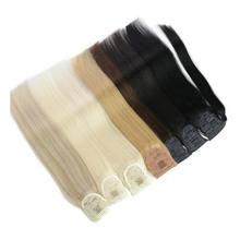 Extensions Human-Hair Pony-Tail Isheeny Natural Brazilian Real Straight Clip-In 14-18-20-24-Remy-Wrap