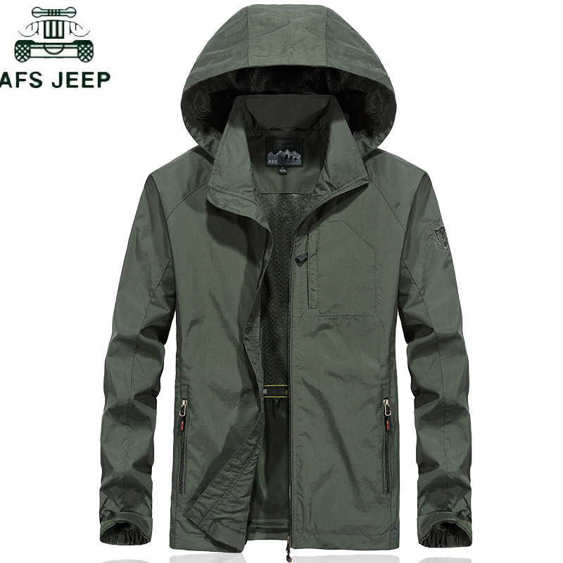 Plus Size 6XL Men's Waterproof Military Jacket Spring Autumn Men Casual Windbreaker Jackets Mens Breathable Hooded Outdoor Coats
