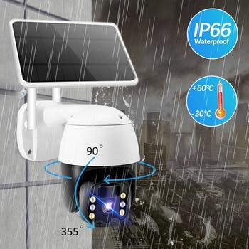 Tuya IP Camera PTZ 1080P HD Starlight Night Vision Outdoor Solar Battery Powered Wireless WIFI Camera Security Surveillance 3