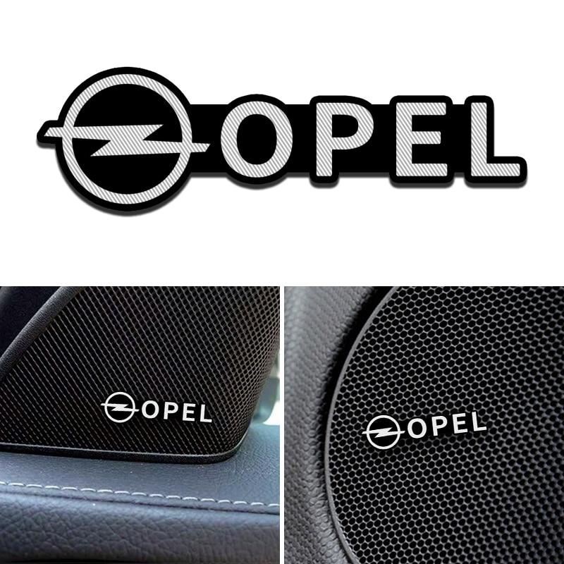 4pcs/lot  Fit For Opel Astra Insignia Mokka Zafira Corsa Vectra Antara Meriva Alloy Sticker Car Stereo Stickers Car Accessories
