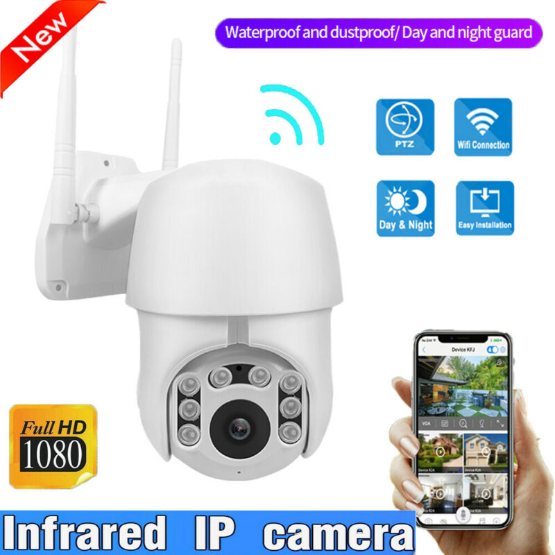 1080P Home Security HD IP CCTV Camera Waterproof Outdoor WiFi PTZ Security Wireless IR Night Vision|Surveillance Cameras| |  - title=