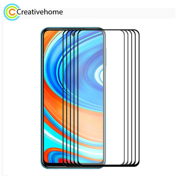 For Xiaomi Redmi K30/K30 Pro & Note 9/Note 9 Pro 5 PCS ENKAY Hat-Prince Full Glue 0.26mm 2.5D Tempered Glass Full Coverage Film