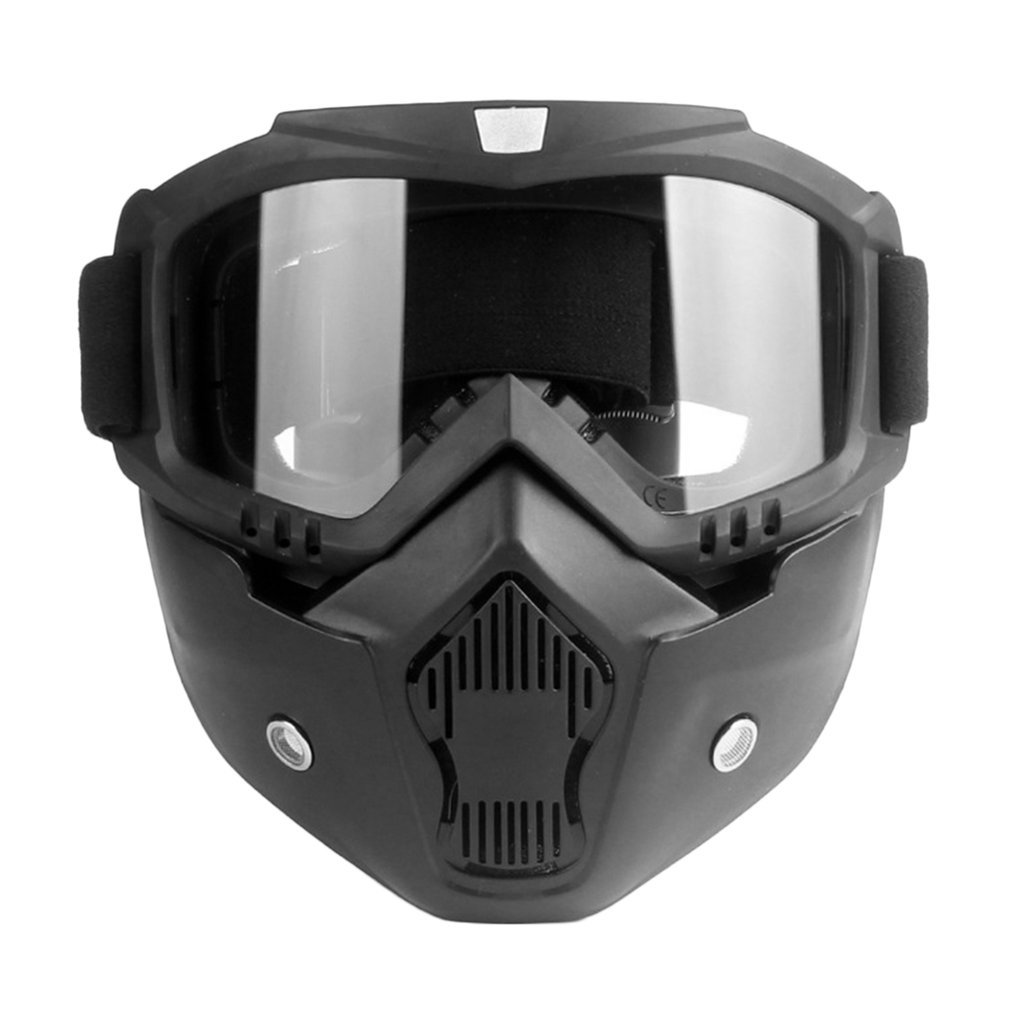 Motorcycle Unisex Vintage Cool Half Helmet Riding Mask Off-road Windproof Goggles With Adjustable Elastic Strap