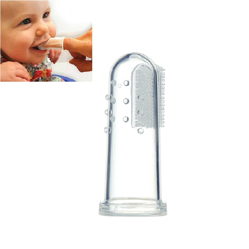 Lots Infant Finger Toothbrush Teether Brush Gum Teeth Baby Silicone Massager New