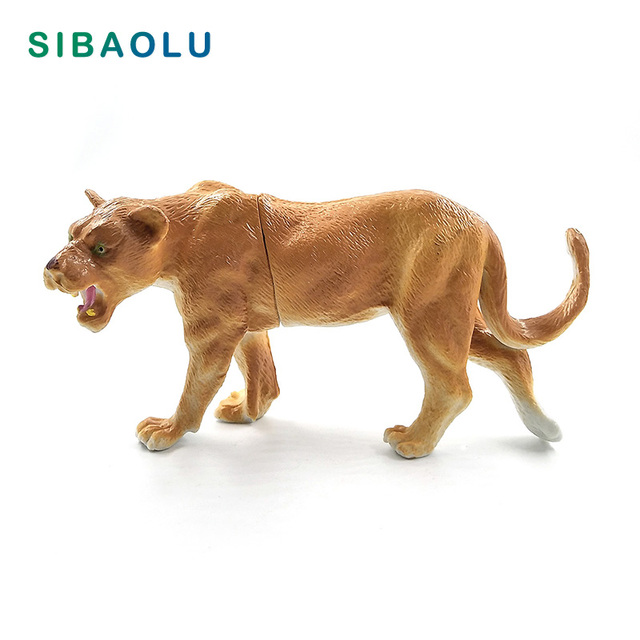 Hot Simulation Lion Hyena Forest Animal model figurine home decor decoration accessories modern plastic Educational toy 1