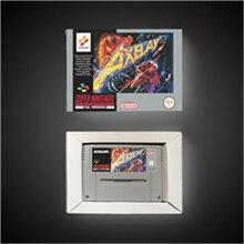 Axelay 소매 상자가있는 EUR 버전 액션 게임 카드