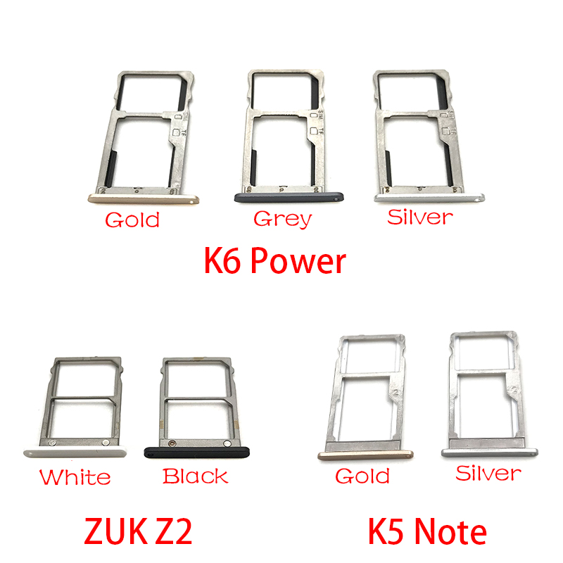 New Single Card SIM Card Tray Slot Holder For Lenovo ZUK Z2 / K5 Note / K6 Power Replacement Part