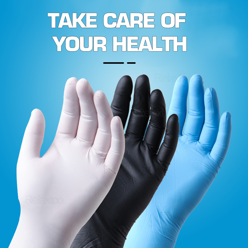 100/50 Pcs Disposable Latex Gloves Non-Slip Protective Gloves Acid Alkali Laboratory Rubber Gloves Household Cleaning Products