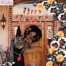 FENGRISE Scary Halloween Decoration Pumpkin Balloons Garland Party Haloween Hallowen 2019 Decor