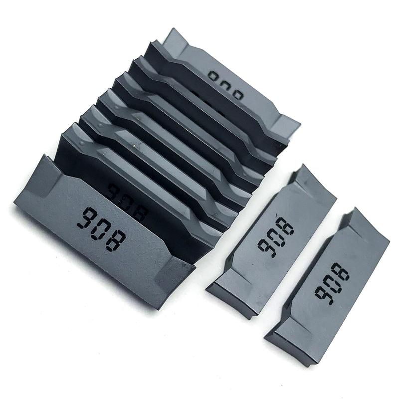 Купить с кэшбэком DGN2002J DGN3003J IC908 2MM 3MM grooving carbide insert high quality Cutting tool CNC turning insert  Parting and grooving tool