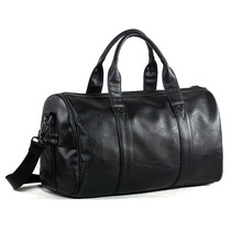 Wo Bag 2019 Quality Travel Black Pu Leather Couple Men And Women Hand Luggage Fashion