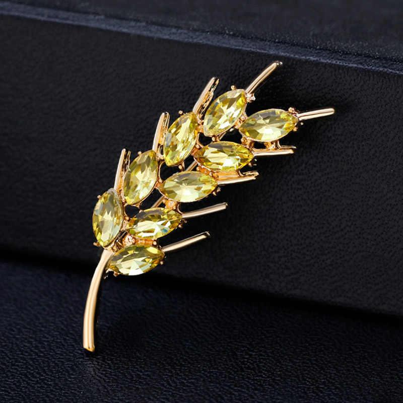 Dream Candy Rhinestone ข้าวสาลีหูเข็มกลัดสำหรับผู้หญิงทองเข็มกลัด Pin เครื่องประดับอุปกรณ์เสริมแฟชั่นที่กำหนดเอง