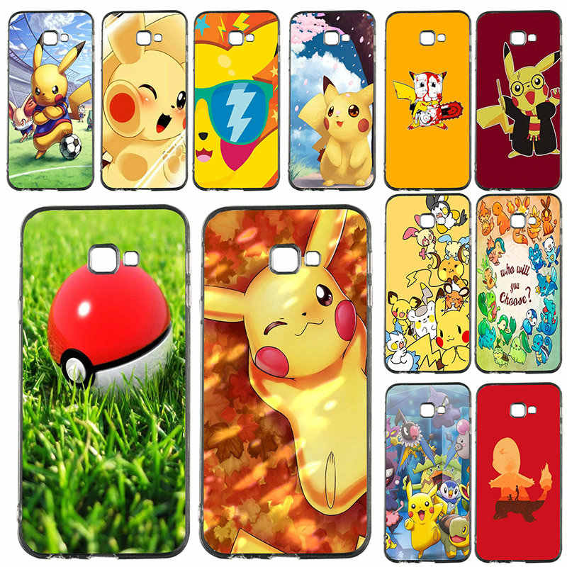 For Samsung Galaxy J1 J2 J3 j4 J5 J6 J7 J8 A3 A5 A7 2018 2016 2017 Coque Bags Silicone Soft Phone Cases Anime Pikachus Pokemons